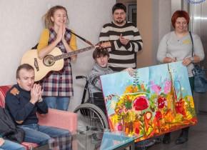 Мистецькі полотна молоді «Джерела» прикрасили готель «ADVENUS» у Львові